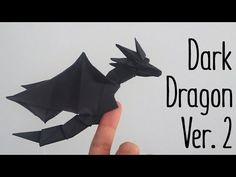 Origami Tutorial: How to make a Dragon Model Design: Anh Dao Difficulty Level: Intermediate Paper size: 30 cm x 30 cm You can find the tutorial for th. Chat Origami, Origami Yoda, Origami Videos, Origami Ball, Origami Fish, Origami Butterfly, Origami Stars, Origami Flowers, Origami Boxes