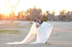 RACHEL BLACKWELL PHOTOGRAPHY Ranchland Hills Wedding in Midland Texas.  Golf Course Bride & Groom Portraits.