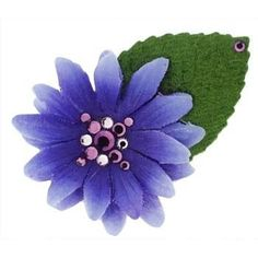 Michelle Roy  Swarovski Crystal  Mini Daisy Hair Clip  Purple ** More info could be found at the image url.(This is an Amazon affiliate link and I receive a commission for the sales)