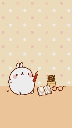 Wallpapers para tu Celular Molang - Ley-WorldKawaii Wallpapers Kawaii, Kawaii Wallpaper, Wallpaper Iphone Cute, Cute Cartoon Wallpapers, Chibi Kawaii, Kawaii Doodles, Cute Chibi, Kawaii Anime, Cute Bear Drawings