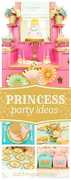 Sheryl S's Birthday / Princess - A Royal Blast Princess Party at Catch My Party Princess Party Favors, Princess Birthday, Birthday Party Decorations, Birthday Ideas, Theme Parties, Butterfly Theme Party, Royal Tea Parties, Joint Birthday Parties, Dessert Table