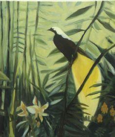 Paradise Bird / Paradisfugl Paradise, Bird, Painting, Animals, Animales, Animaux, Birds, Painting Art, Paintings