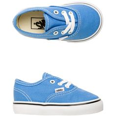 Vans Authentic Shoe ($30) ❤ liked on Polyvore featuring shoes, sneakers, blue, vans footwear, vans shoes, waffle shoes, blue sneakers and low tops