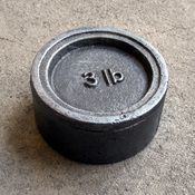 Cast Iron Weight from A Stylist's Life