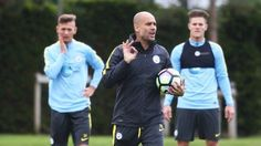 Manchester City post amazing footage of Pep Guardiolas first training session (Video)