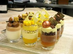 Verrine by Pastry Chef Antonio Bachour (St. Regis Bal Harbour Resort) presented on glass tray designed by Glass Studio www.the-glass-co.com