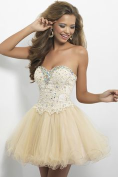 mini-length sweetheart princess tulle natural waist prom dress - gopromdres.com