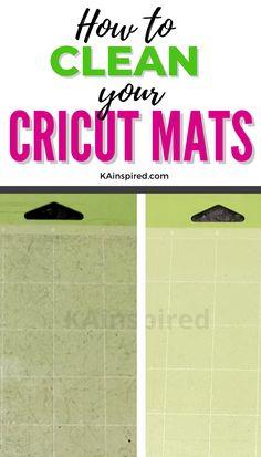 3 EASY WAYS TO CLEAN CRICUT MATS