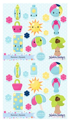 Kawaii Sports Clipart for planner stickers, crafts, and products ...