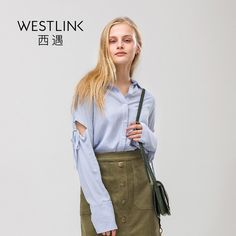 New Hollow Lace-up Long Sleeve Turn-down Collar Button Casual Women Blue Shirts | $ 0.00 | Item is FREE Shipping Worldwide! | Damialeon | Check out our website www.damialeon.com for the latest SS17 collections at the lowest prices than the high street | FREE Shipping Worldwide for all items! | Buy one here http://www.damialeon.com/westlink-2017-spring-new-hollow-lace-up-long-sleeve-turn-down-collar-button-casual-women-blue-shirts/ |      #damialeon #latest #trending #fashion #instadaily…