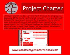 Project charters can be a very helpful tool in any lean initiative. Project Charter, Lean Six Sigma, Consulting Firms, Change Management, Cool Tools, Coaching, Organization, Tips, Projects