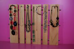 necklace wall display by chloepersonne on Etsy, $110.00