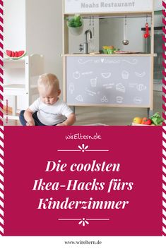 Ikea hacks for the children's room- Ikea-Hacks fürs Kinderzimmer Ikea furniture is good. They are cheap. Twelve ideas on how to get more out of the furniture. Baby Room Boy, Baby Room Decor, Girl Nursery, Nursery Decor, Nursery Ideas, Parents Room, Kids Room, Bebe Nature, Baby Room Neutral