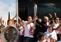 Recorre antorcha de los JCC Veracruz 2014 calles de la CDMX