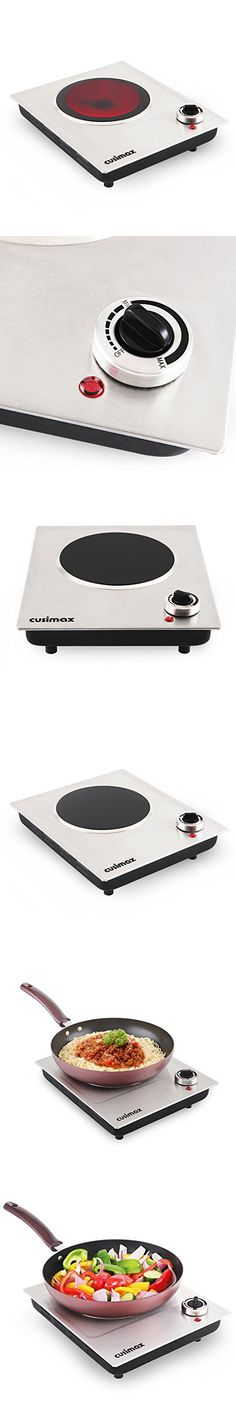 Cusimax CMIP-C120 Single Burner, Portable Ceramic Infrared Cooktop,Stainless Steel