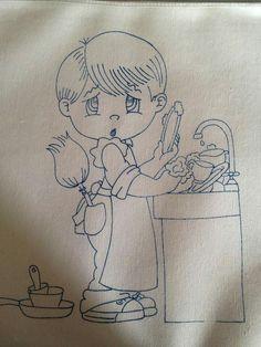Niño lavando trastes