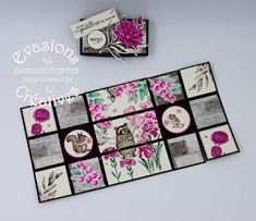 Évasions Créatives Boite Explosive, Stamp, Pad, Scrapbooking, Interactive Map, Shutters, Horse, Scrapbooks, Stamps