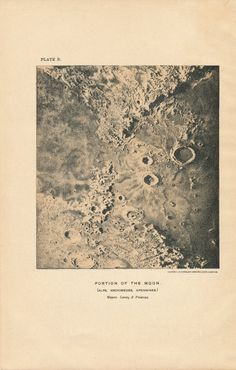 1911 Moon Surface Antique Astronomy Print by Figure10 on Etsy