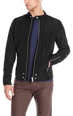 Diesel Men's J-EDG-Clean Full Zip Moto Jacket,  Black,  X-Large ❤ Diesel Men's Collections