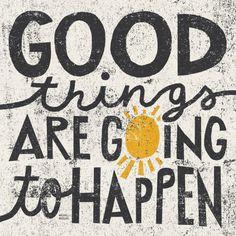オールポスターズの マイケル・ミューラン「Good Things are Going to Happen」高品質プリント