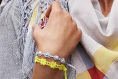 Neon Yellow Clover, Grey Heart. Autumn accessories