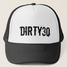 Dirty 30 hat for men's Birthday party, Adult Unisex, Size: Small, White and Black 30th Birthday Party Themes, 30th Birthday For Him, Surprise 30th Birthday, Vintage Birthday Parties, Birthday Gag Gifts, Thirty Birthday, 30th Party, Man Birthday, Birthday Cakes