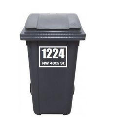 Trash Can Wheelie Bin Address Vinyl Decal Sticker Window JDM Gift Family Homemade Laptop Free Fast Shipping by OklahomiesShop on Etsy Wall Decals For Bedroom, Name Wall Decals, Vinyl Decals, Sticker, Jdm, Football Wall, Garbage Can, Trash Bins, Transfer Tape
