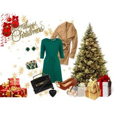 """Holiday image)"" by fossil0809 on Polyvore. Used my first template)"