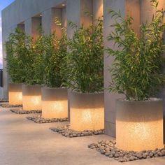 23 Ideas Backyard Lighting Led - All For Garden Terrace Design, Patio Design, Backyard Lighting, Outdoor Lighting, Design Exterior, Fence Design, Outdoor Walls, Backyard Landscaping, Outdoor Gardens