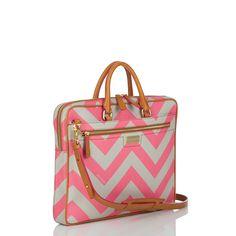 Pink Chevron Laptop Bag