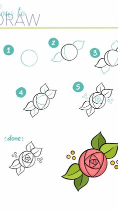 Digital Art Tutorial, Drawing Challenge, Draw Flowers, Rose, Drawings, Dairy, Ideas, Pink, Paint Flowers