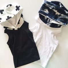 Boys Hooded Tanks - Two Little Stars Tanks, Tank Tops, Little Star, Basic Tank Top, Kids Outfits, Handmade Items, Boys, Clothes, Women