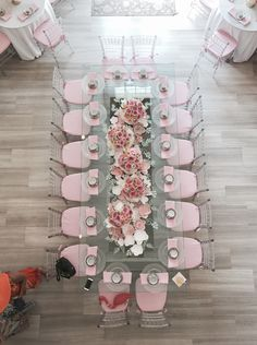BLUSHING BRIDE-TO-BE - Oh It's Perfect #tablescape #wedding-ideas #pink-tablescape