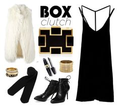 """box clutch"" by cly88 ❤ liked on Polyvore featuring DKNY, Sondra Roberts, RVCA, Monki, Morea, Sole Society, Michael Kors, Max Factor, women's clothing and women's fashion"