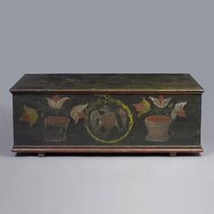 Rare Painted Blanket Chest, NY C. 1790 - 1810