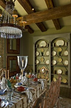 Cathy Kincaid Interiors.  Like the built-ins if small dining room.  Like ceiling.