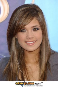 potential hair for round face.  Almost like my hair now, but straight at the sides and not cut toward the face.