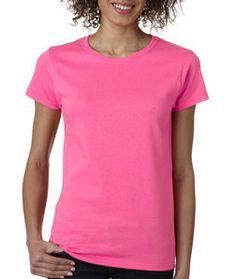 5000L Gildan Heavy Cotton™ Ladies' T-Shirt Safety Pink