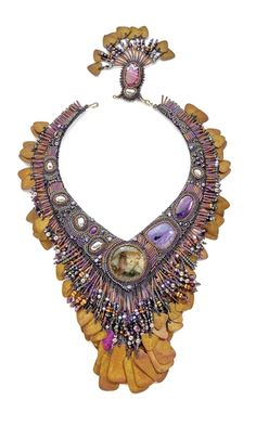 Single-Strand Necklace with Seed Beads, Pearls and Patina Discs - Fire Mountain Gems and Beads
