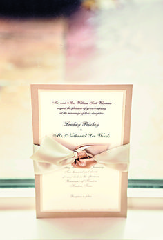 The invitations, designed by Bering's, asked 25 guests to join the couple for the 1 p.m. ceremony. Taylor Lord Photography