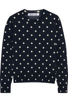 """""""Wear spots with stripes. Comme Des Garçons, Comme Des Garçons polka-dot top is a staple in a cool girl wardrobe."""" – Sarah Rutson, Vice President of Global Buying #TheRutsonReport"""