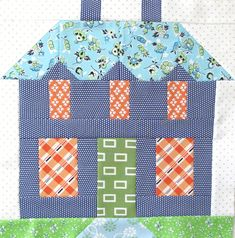 Bee In My Bonnet: My Home Sweet Home Quilt Block Pattern - In Quiltmakers Magazi. - Bee In My Bonnet: My Home Sweet Home Quilt Block Pattern – In Quiltmakers Magazine 100 Blocks! House Quilt Patterns, House Quilt Block, Quilt Block Patterns, Pattern Blocks, Quilt Blocks, Quilting Projects, Quilting Designs, Applique Designs, Sampler Quilts