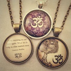 Handmade inspirational and yoga jewelry. http://www.cellsdividing.com/collections/om