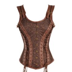 Gold and Black Brocade Corset with Laces WAAANT!!