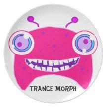 Trance Morph Monster Kids Dinner Plates