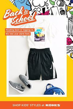 The new school year can be fun + exciting with your kids' favorite comfy activewear. Now through Aug. 2, take an additional 20% off your purchase and try our limited-contact Store Drive Up for online orders. (Only available in select locations.) Shop + save on Nike, Under Armour and more at Kohl's and Kohls.com. #kidsschooloutfits The New School, New School Year, School Fun, Educational Math Games, Hair Growth Home Remedies, Difficult Puzzles, Indoor Games For Kids, Back To School Essentials, Puzzles For Toddlers