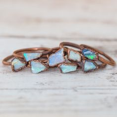 Australian Raw Opal and Copper Ring | Bohemian Festival Jewelry | Indie and Harper