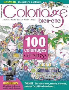 Avec Coloriage Bien-être, passez un été tout en détente ! Des thèmes pour tous les goûts : été, danse, fleurs, motifs et mandalas, collector, l'art d'Eléna Barenbaum Stickers, Motifs, Comic Books, Cover, Art, Mandalas, Box Sets, Dance, Gaming