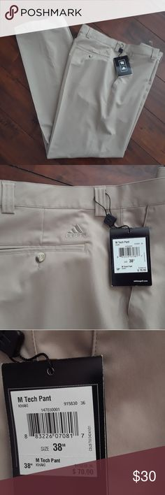 Adidas NWT golf Pants new 38 waist Retail $70. Inseam measures 34.5 inches. Adidas Pants Chinos & Khakis
