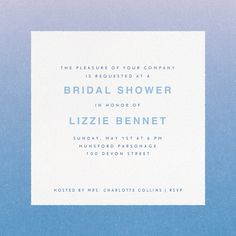 Blue gradient Couples Shower invitation by Paperless Post. Available online or on paper. View more invitations on paperlesspost.com.